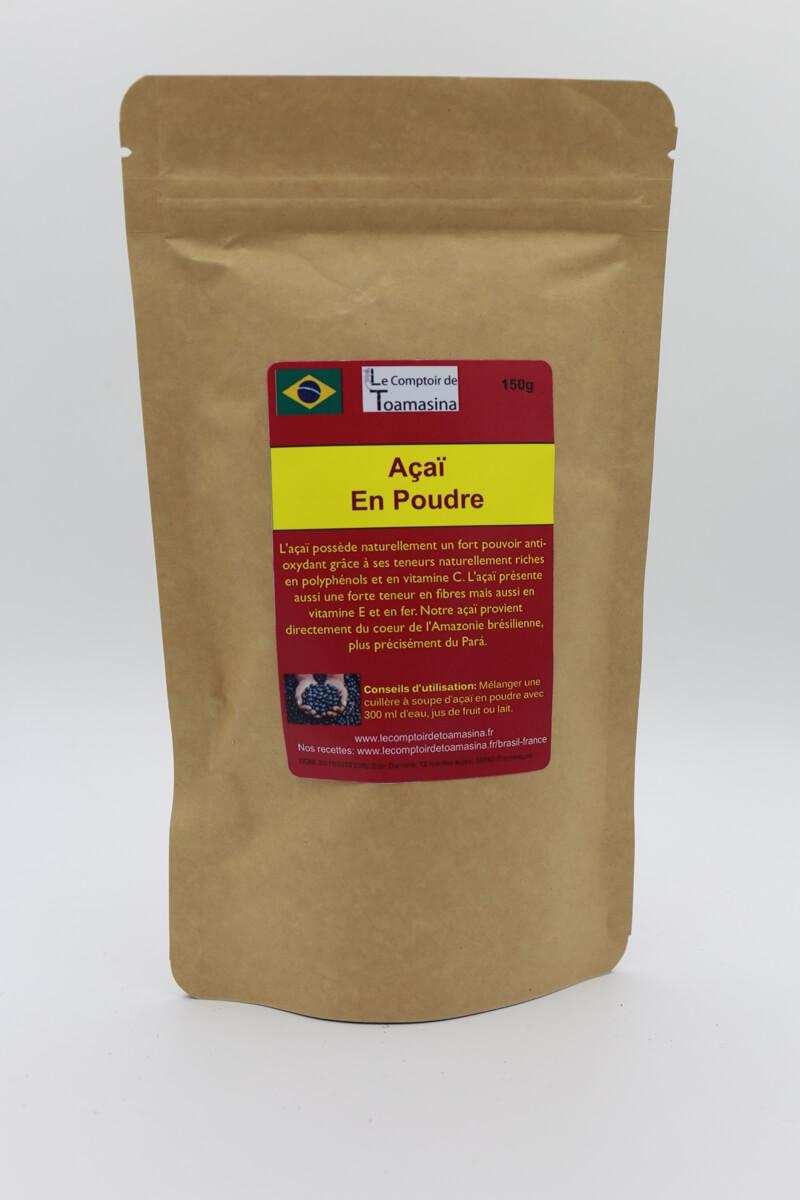 Açai en Poudre 100% Naturel Direct de Plantation en Amazonie, vente açai en poudre, achat et vente açai naturel d'amazonie