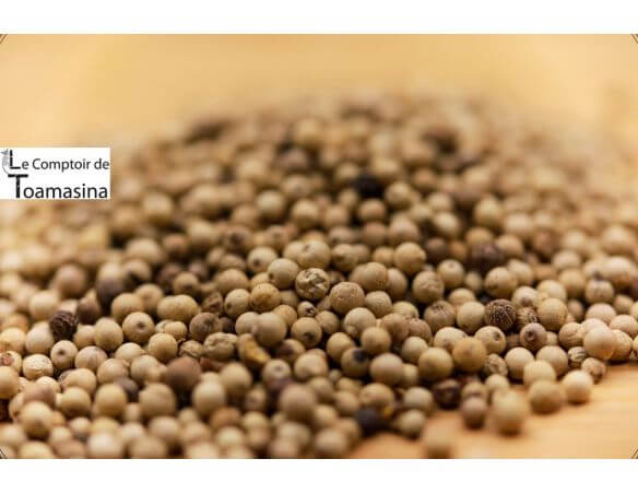 Poivre blanc en grains - grains entiers