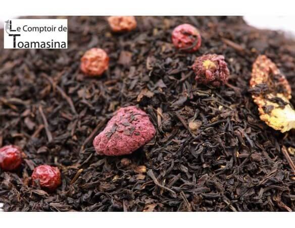 Thé Noir parfumé aux fruits rouges