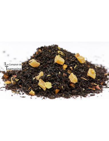 Acheter du thé noir parfumé en ligne orange, cannelle Ananas