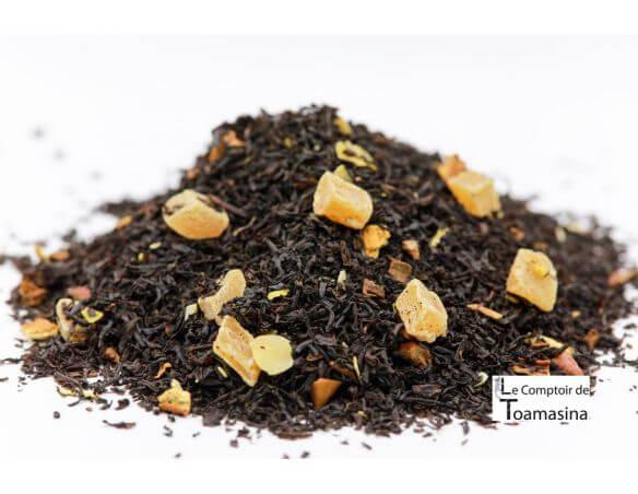 Thé Noir parfumé orange, cannelle et Ananas, Thé Noir d'Aracaju