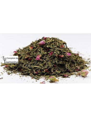 Acheter du thé vert parfumé fraise framboise