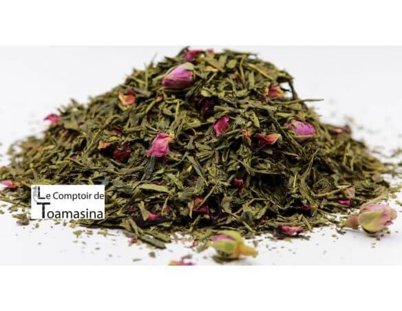 Thé Vert parfumé Gourmand Fraise - Framboise
