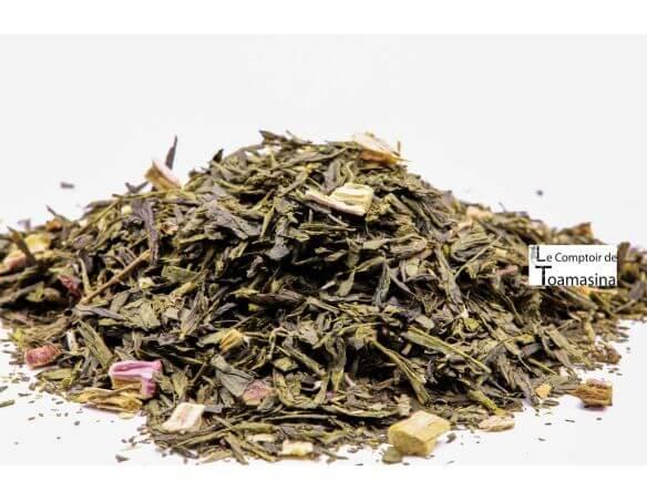Acheter du thé vert fraise et rhubarbe