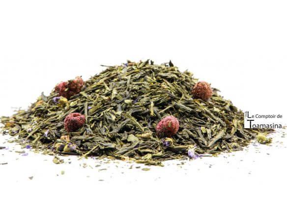 Thé Vert des Délices - Violette et framboise