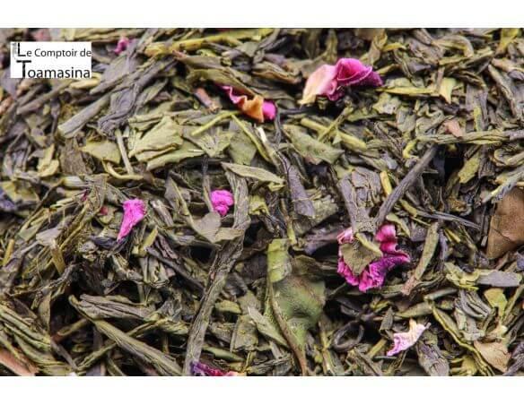 Acheter du thé vert parfumé à la violette, litchi et lavande
