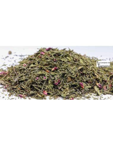 Thé Vert de l'été Litchi, Violette et Lavande