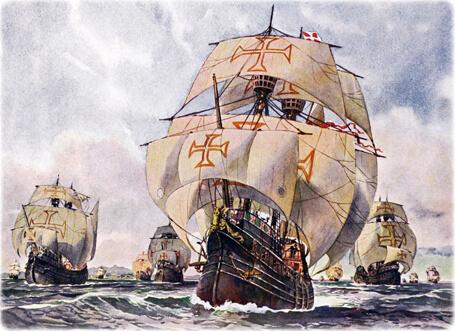 Caravelle du Portugal à la conquête du monde et de nouvelle route maritime