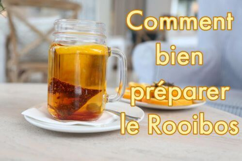 The infusion of Rooibos Soleil from Brazil