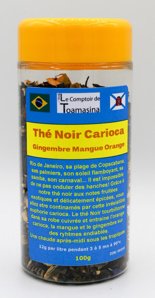 Thé Noir Carioca, Thé Noir Mangue, Gingembre, Orange, Achat et Vente de Thé à Lille