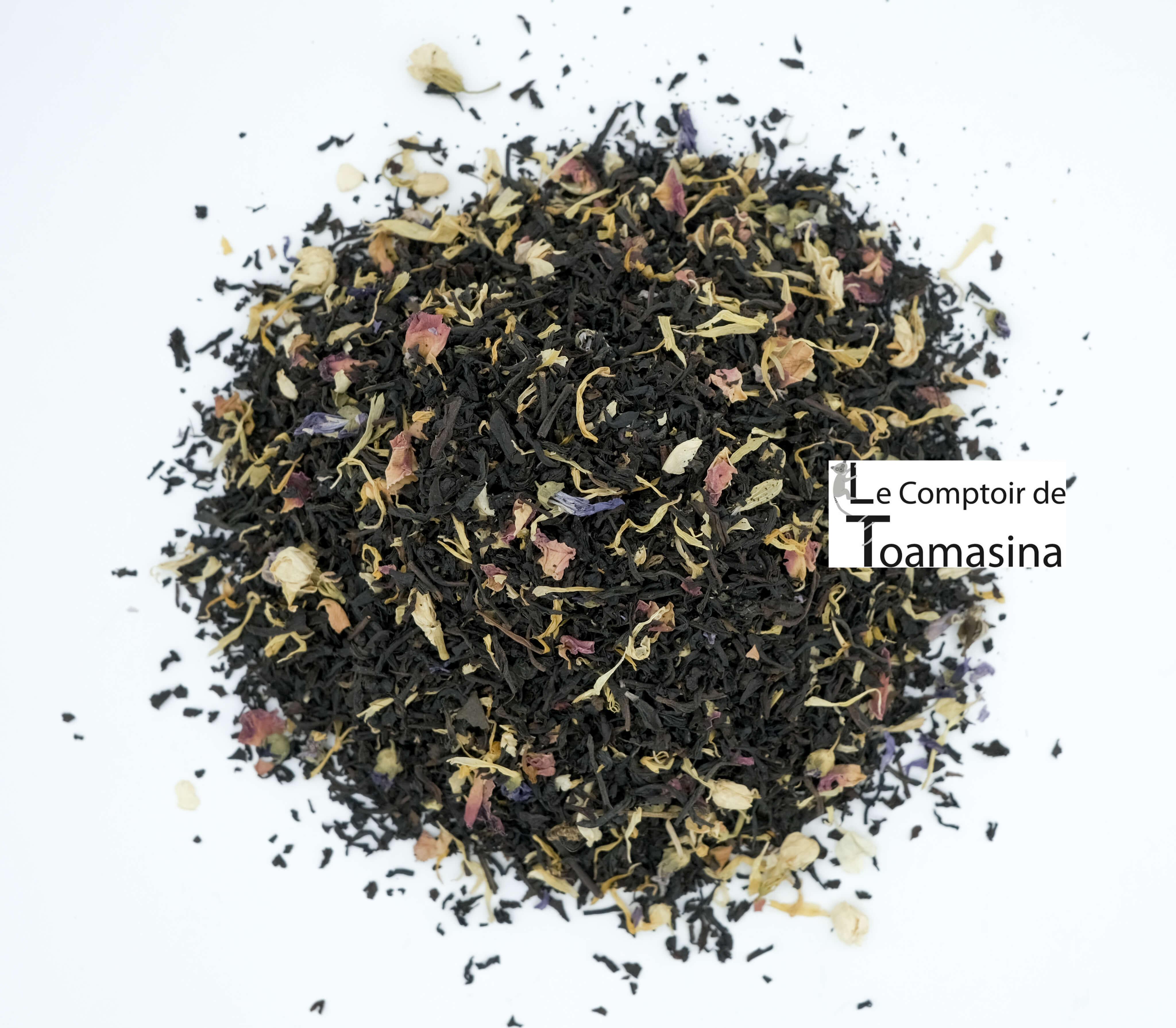 Acheter du thé noir parfumé au fruit de la passion du Brésil