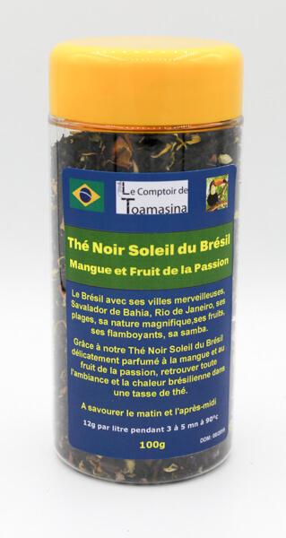 Thé Noir Soleil du Brésil, Thé Noir Mangue Passion
