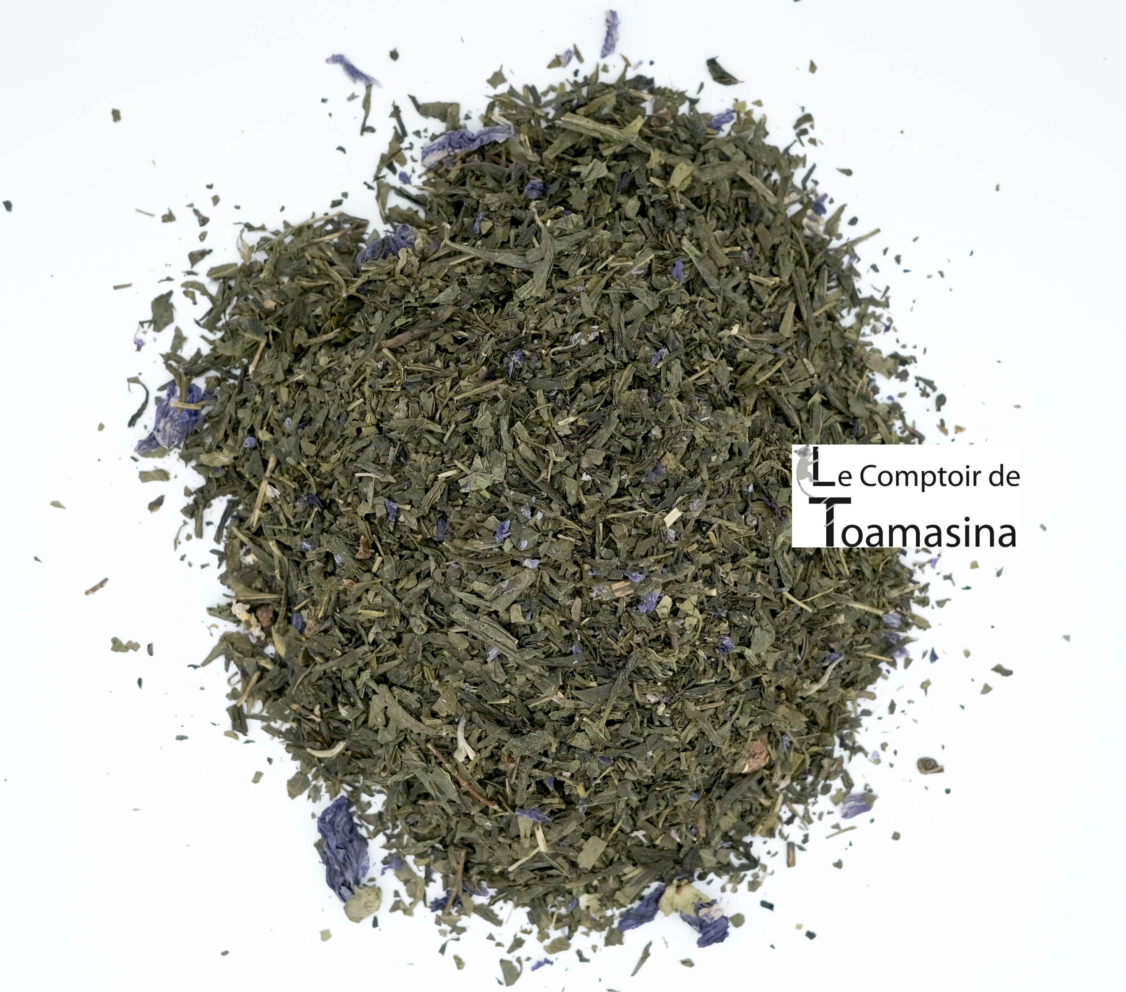 Acheter du Thé Vert parfumé à la framboise et violette