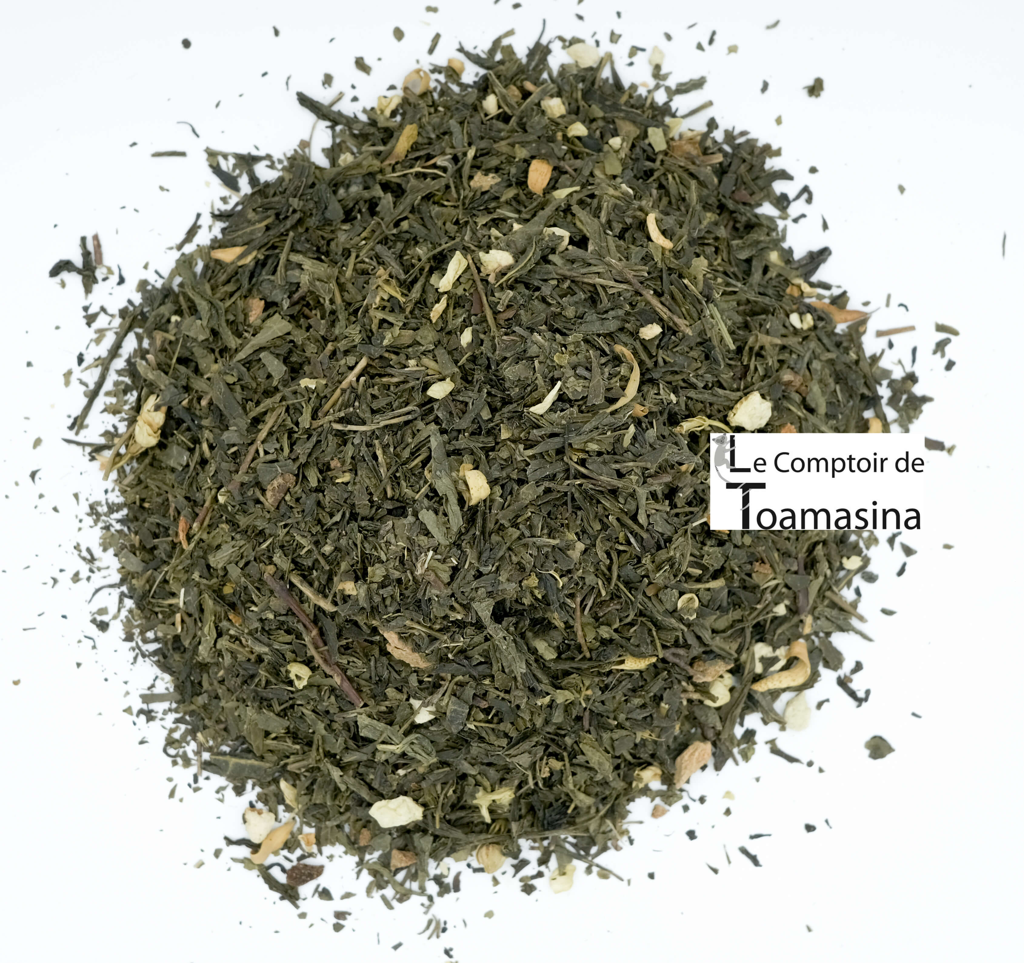 Thé Vert parfumé à lorange carioca, acheter du thé vert