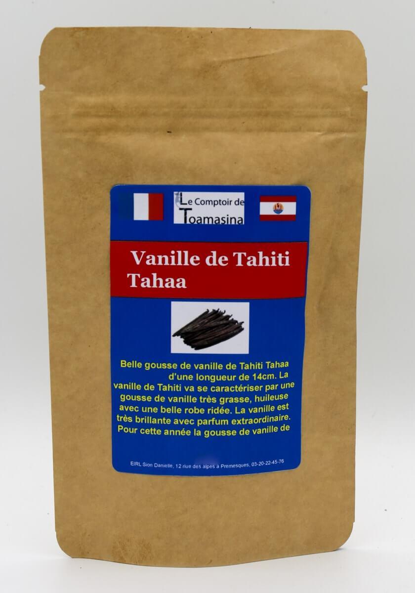 Baunilha do Taiti Tahaa, baunilha escura e alongada