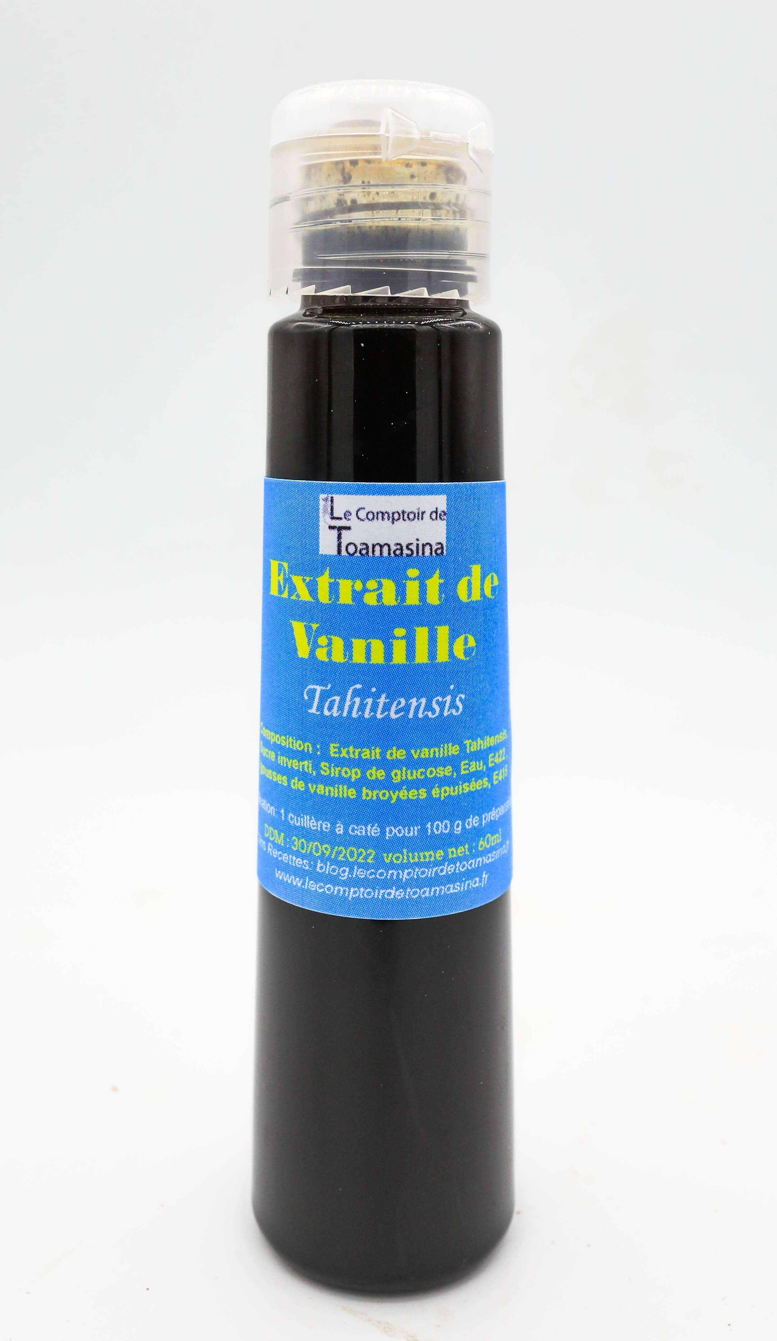 Extrait de vanille Tahitensis à pâtisserie, achat et vente de gousses de vanille liquide
